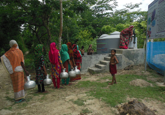 "The overall goal of the project is ""Contribute to build resilience and reduce well-being loss of climate change affected disadvantaged communities, and particularly vulnerable women and youth, in the disaster- prone areas of South West Bangladesh''."